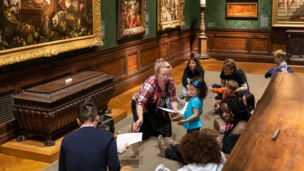 an experience for kids at the art museum